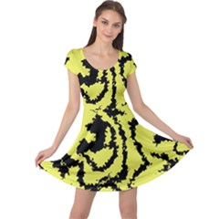 Migraine Yellow Cap Sleeve Dresses
