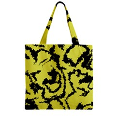 Migraine Yellow Zipper Grocery Tote Bags