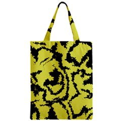 Migraine Yellow Zipper Classic Tote Bags