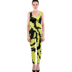 Migraine Yellow OnePiece Catsuits