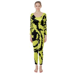 Migraine Yellow Long Sleeve Catsuit