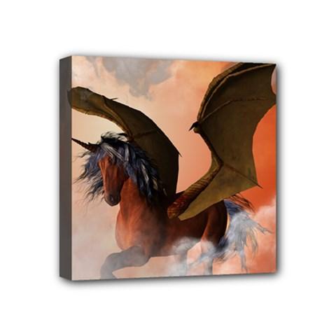 The Dark Unicorn Mini Canvas 4  x 4