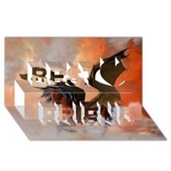 The Dark Unicorn Best Friends 3D Greeting Card (8x4)