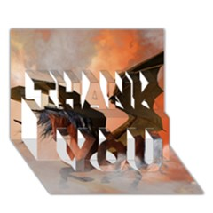 The Dark Unicorn Thank You 3d Greeting Card (7x5)