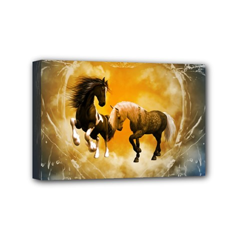 Wonderful Horses Mini Canvas 6  x 4