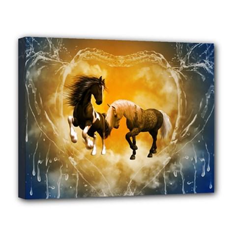 Wonderful Horses Canvas 14  X 11
