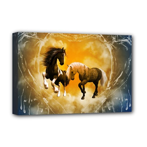 Wonderful Horses Deluxe Canvas 18  x 12