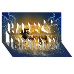 Wonderful Horses Happy Birthday 3D Greeting Card (8x4)