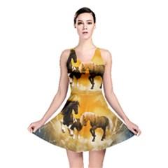 Wonderful Horses Reversible Skater Dresses