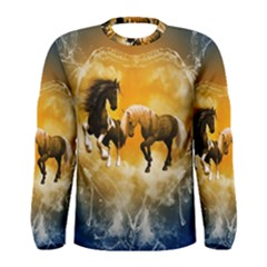 Wonderful Horses Men s Long Sleeve T-shirts
