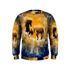 Wonderful Horses Boys  Sweatshirts