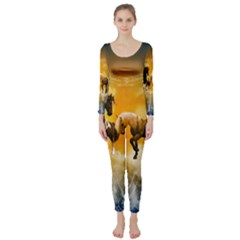Wonderful Horses Long Sleeve Catsuit