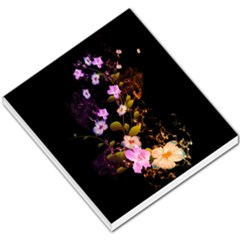 Awesome Flowers With Fire And Flame Small Memo Pads
