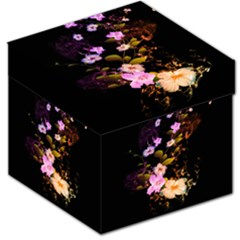 Awesome Flowers With Fire And Flame Storage Stool 12