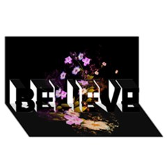 Awesome Flowers With Fire And Flame BELIEVE 3D Greeting Card (8x4)