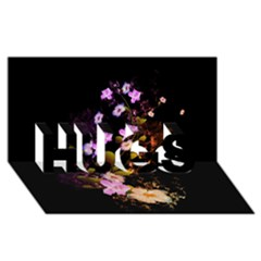 Awesome Flowers With Fire And Flame HUGS 3D Greeting Card (8x4)