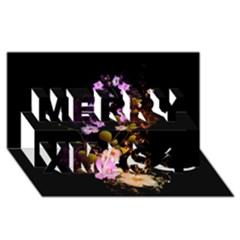 Awesome Flowers With Fire And Flame Merry Xmas 3D Greeting Card (8x4)