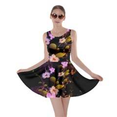 Awesome Flowers With Fire And Flame Skater Dresses