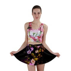 Awesome Flowers With Fire And Flame Mini Skirts