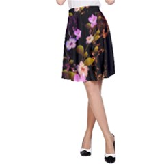 Awesome Flowers With Fire And Flame A-Line Skirts