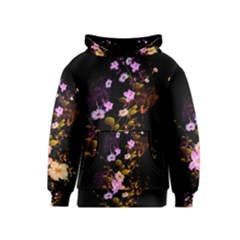 Awesome Flowers With Fire And Flame Kid s Pullover Hoodies