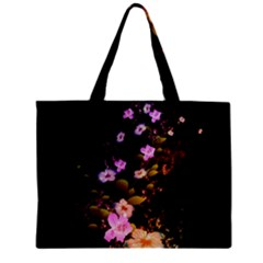 Awesome Flowers With Fire And Flame Zipper Tiny Tote Bags