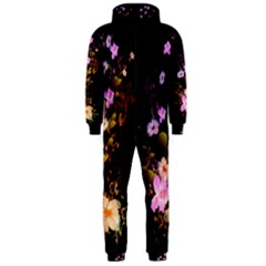 Awesome Flowers With Fire And Flame Hooded Jumpsuit (Men)