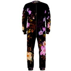 Awesome Flowers With Fire And Flame OnePiece Jumpsuit (Men)