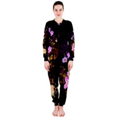 Awesome Flowers With Fire And Flame Onepiece Jumpsuit (ladies)