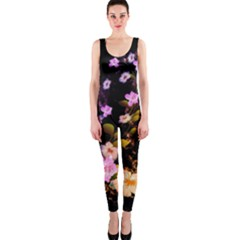 Awesome Flowers With Fire And Flame OnePiece Catsuits