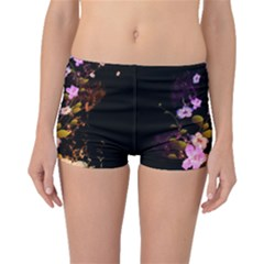 Awesome Flowers With Fire And Flame Boyleg Bikini Bottoms