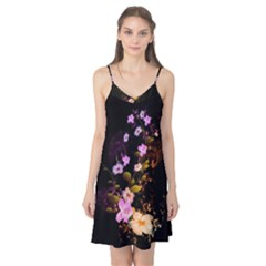 Awesome Flowers With Fire And Flame Camis Nightgown