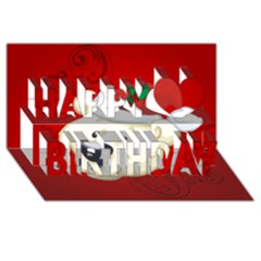Funny Polar Bear Happy Birthday 3d Greeting Card (8x4)
