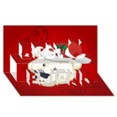 Funny Polar Bear Best Friends 3D Greeting Card (8x4)