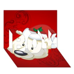 Funny Polar Bear BOY 3D Greeting Card (7x5)