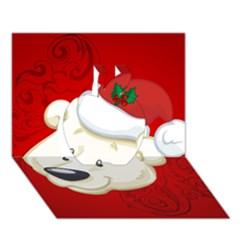 Funny Polar Bear Apple 3d Greeting Card (7x5)