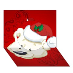 Funny Polar Bear Circle 3D Greeting Card (7x5)