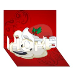 Funny Polar Bear Hope 3d Greeting Card (7x5)