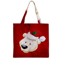 Funny Polar Bear Grocery Tote Bags