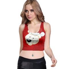 Funny Polar Bear Racer Back Crop Tops