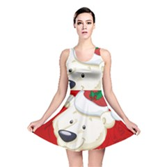 Funny Polar Bear Reversible Skater Dresses