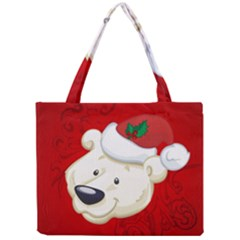 Funny Polar Bear Tiny Tote Bags