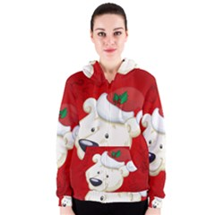 Funny Polar Bear Women s Zipper Hoodies