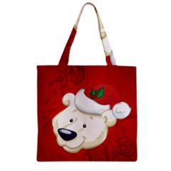 Funny Polar Bear Zipper Grocery Tote Bags