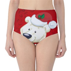 Funny Polar Bear High Waist Bikini Bottoms