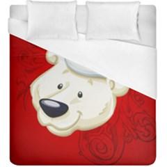 Funny Polar Bear Duvet Cover Single Side (kingsize)
