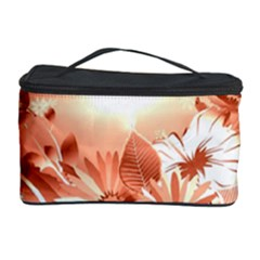 Amazing Flowers With Dragonflies Cosmetic Storage Cases