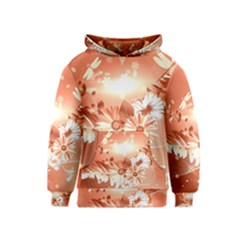 Amazing Flowers With Dragonflies Kid s Pullover Hoodies