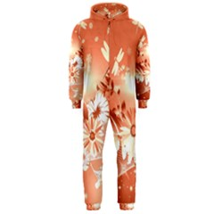 Amazing Flowers With Dragonflies Hooded Jumpsuit (Men)