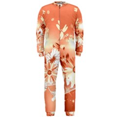 Amazing Flowers With Dragonflies OnePiece Jumpsuit (Men)